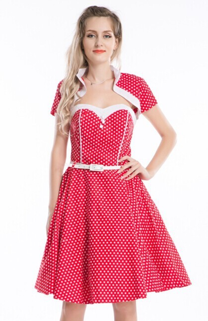 CHEAP Vintage Retro Swing 50s 60s Housewife Pinup Rockabilly Formal Prom Dresses 5xl