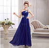 New Blue Sexy Long Chiffon Bridesmaid Formal Gown Evening Ball Party Cocktail Prom Dress