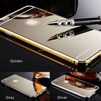 Luxury Aluminum Ultra-thin Mirror Metal mobile phone Case Cover for iPhone 6 , for iphone 6 metal case