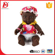 10 Inch wholesale black plastic dolls for kids