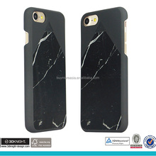 Wholesale hardshell PC full covered black marble phone case for iPhone 6 7