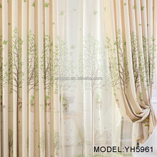 New design mini trees printed curtains for the living room