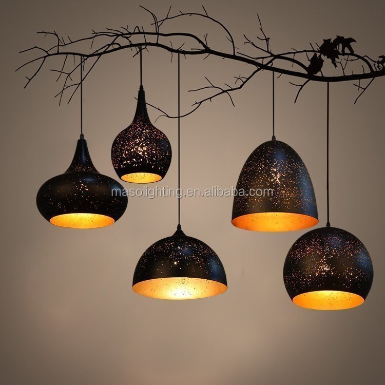 Cucurbit shape Mesh Iron Suspended Lamp Bar Coffee house scene display Novelty drop light raindrop star ceiling light art decor