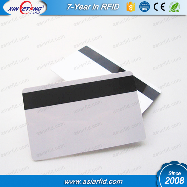 12.7mm Hico Magnetic Stripe Inkjet Blank PVC Card for Epson T60 printer