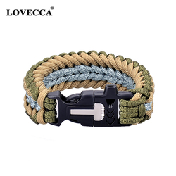 China Manufacturer Newest styles Paracord bracelet with logo engraved paracord buckle