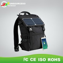 portable solar charger bag ,solar charging backpack power recharger for phone