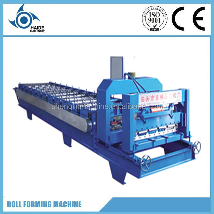 Philippines Metal Wave galzed tile making machine/ roof and wall roll forming machine