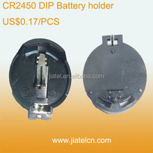 6V BS-2450 DIP Button Cell CR2450 Battery Holder
