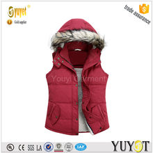 women's hooded down vest