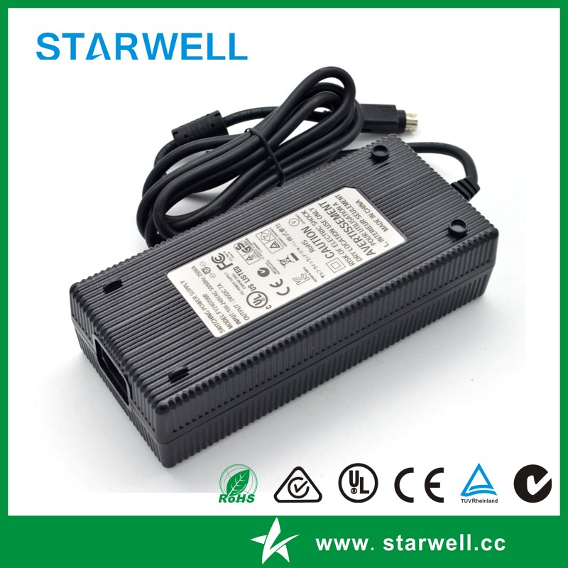 UL CE SAA certificated 24V 5A 120W power adapter with class 2 standard C8 ac inlet