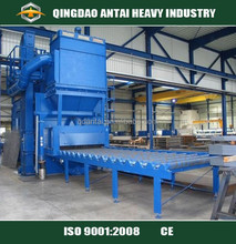 Roller Conveyor Type Shot blasting processing machine for Steel plate