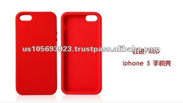 Silicone mobile phone case for Iphone 5