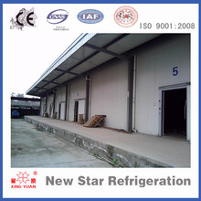 Fruit and vegetables cold storage room warehouse