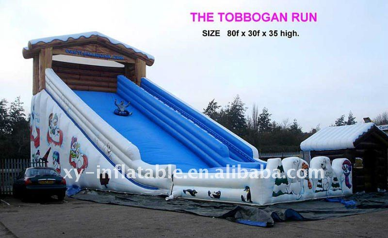 Toboggan run huge inflatable slide
