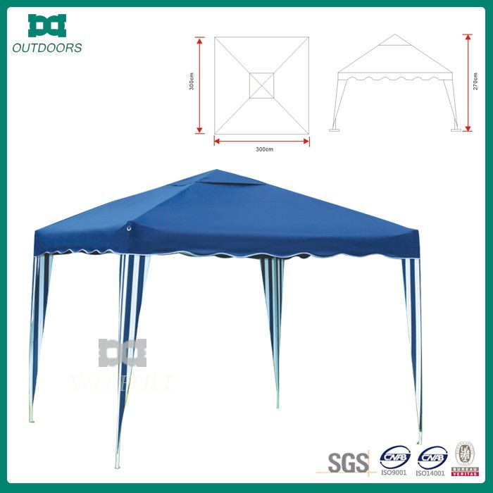 Folding portable outdoor gazebo tent