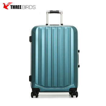 2018 women durable pc travel luggage carry on suitcase