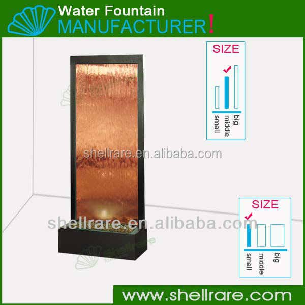 Bronze glass panel for garden/ home decor/wall water feature