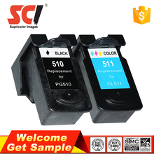 High quality no plug nozzle ink cartridge use in canon pixma mp280 compatible pg-510 cl-511