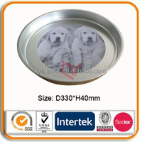 CMYK printing tin round serving tray