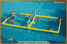 strong PVC inflatable water volleyball court
