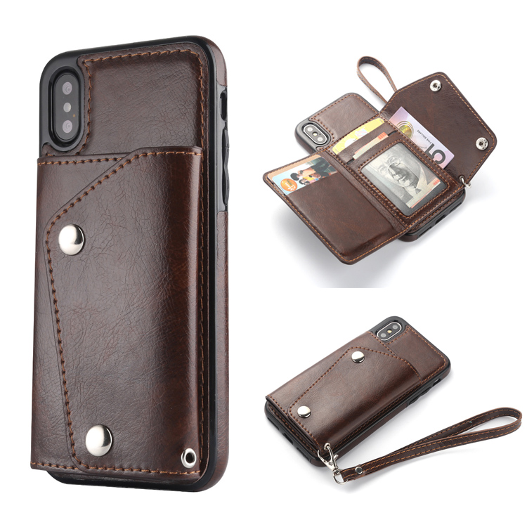 Hot Selling Wallet Case for iPhone Xs Max Leather Flip Cover Wallet Card Phone Case Compatible iPhone Xs Max 6.5""