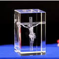 custom 3D laser engraving Christian Jesus series crystal religious souvenior craft