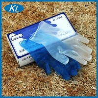 Food Industry Automotive Blue PVC M Gloves Single Use Examination Vinyl Gloves Consumable