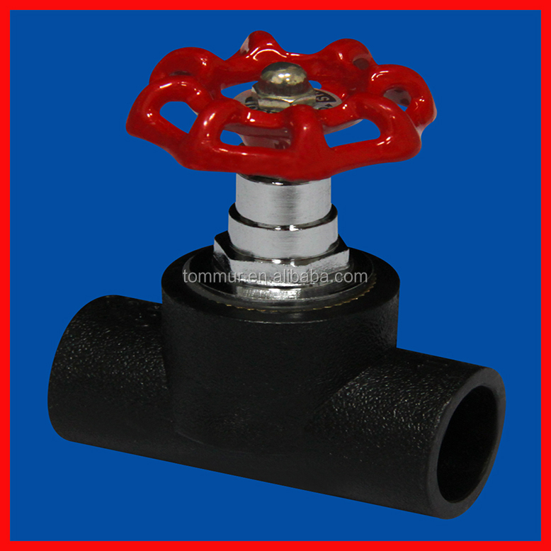 2015 manufacturing new products black color high quality gate valve for hdpe pipe
