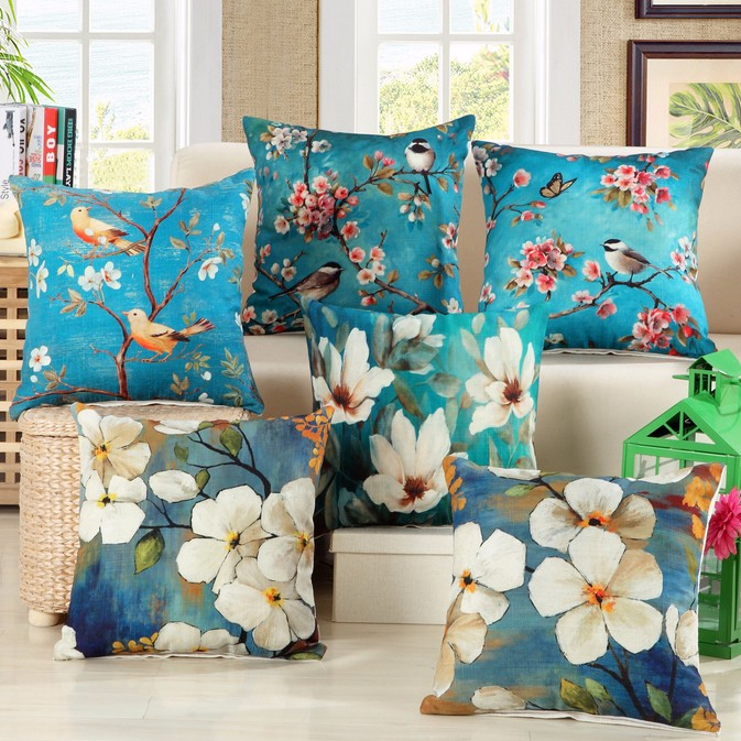China wholesale printed 100% cotton custom design cushion cover
