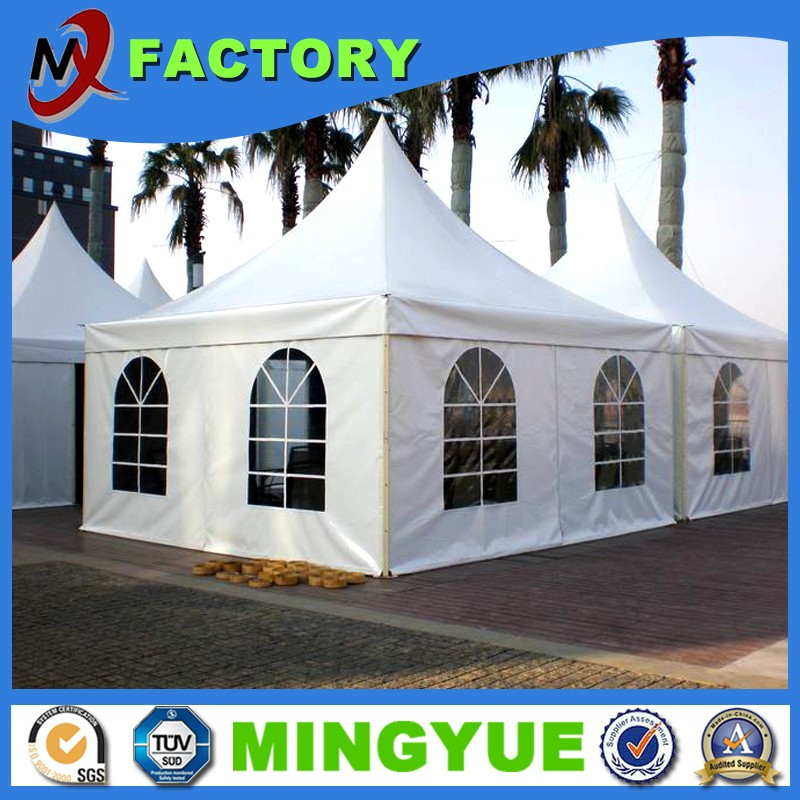 Cheap 4x4 5x5 6x6 outdoor Aluminium frame pagoda tent for Fireproof aluminum tents wholesale