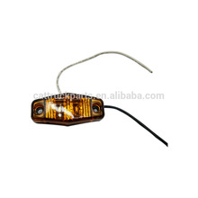 White Clear Lens 2 Diode LED Trailer Truck Clearance Side Marker Light Truck Trailer Red Amber Clear Led Side Marker Light