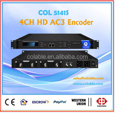 COL5141S 4-IN-1 HD SDI to Ethernet MPEG-2&MPEG-4 AVC/H.264 DVB Encoder