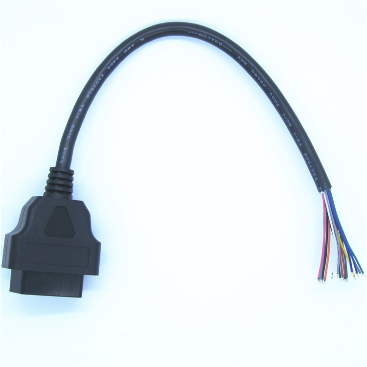 OBDII Female to Open 60CM Obd2 Female Open End Cable