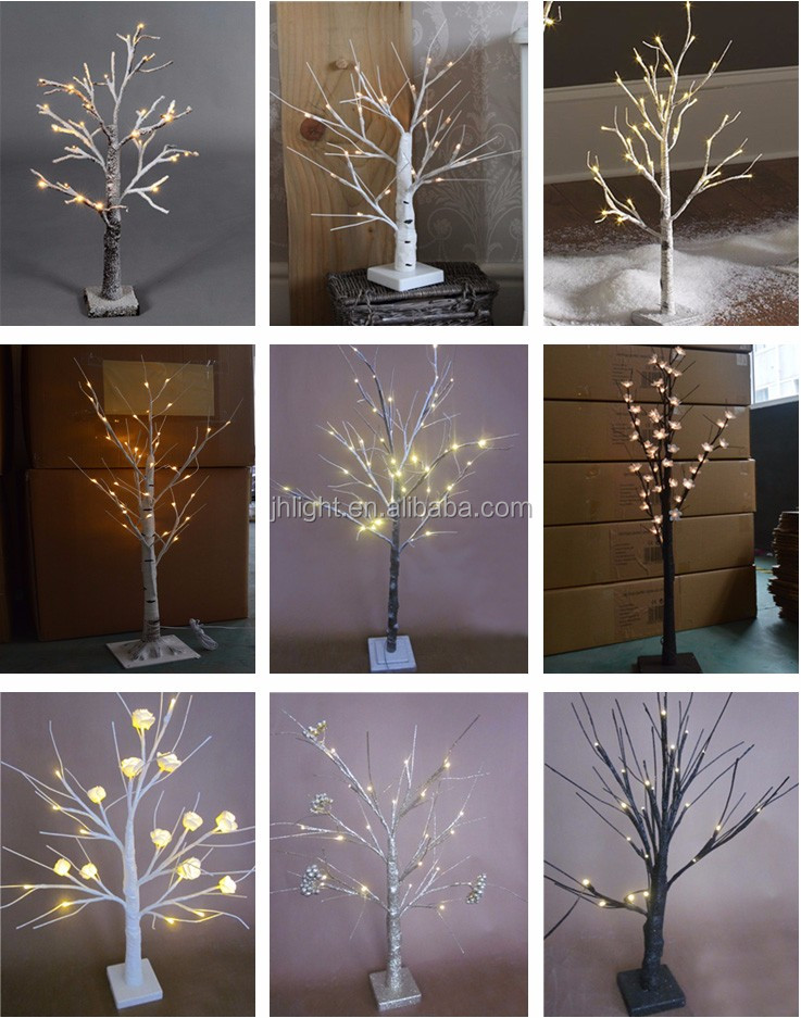 LED Birch Tree Warm White 8ft/Cheap Christmas artificial decorative birch tree