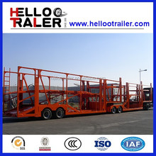 China 2016 hot sale vehicle transporting car hauler trailer