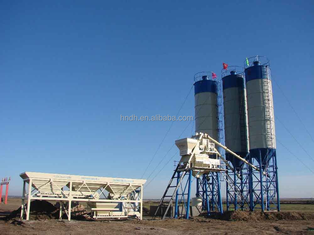 Automatic Stationary 60CBM/h Concrete Mixing Batch Plant HZS60