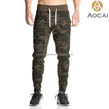 Custom Camo Joggers Gym Wear Slim Fit Sweatpants for men with logo