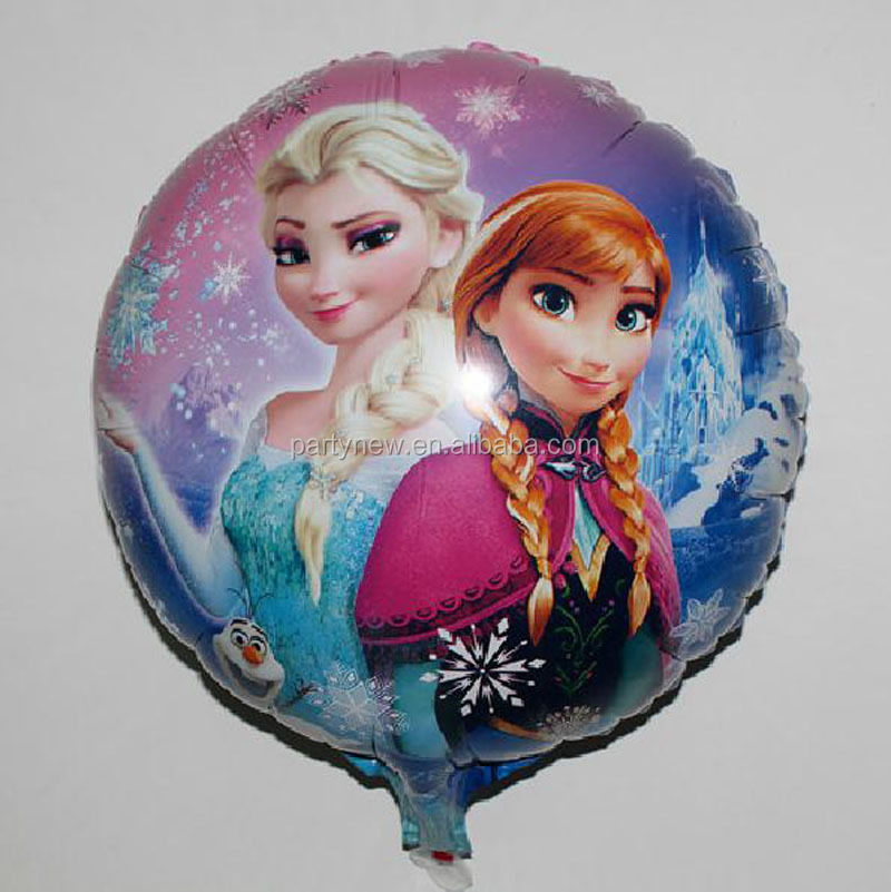 2016 hot selling frozen machine printing self sealing foil balloon wholesale