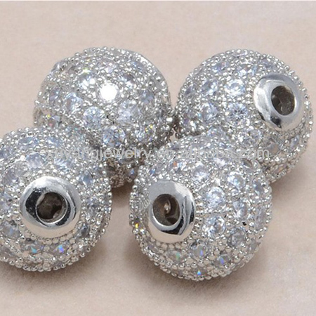 10mm cz micro pave beads for jewelry making,accept paypal wholesalers (MPB012)
