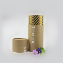 Eco friendly handmade custom made empty container paper shipping tube poster packaging cylinder round box