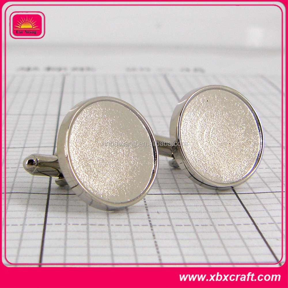 discount fashion metal blank cuff links