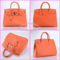 PU lock fashion women handbag / ladies tote bag