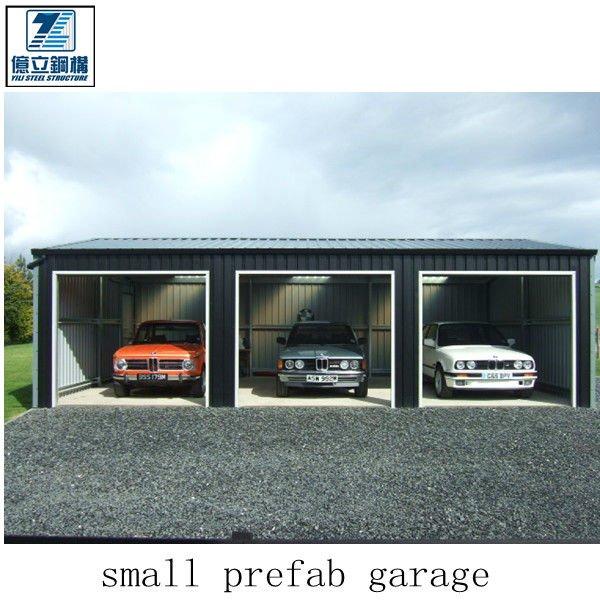 Prefabbricati piccolo garage con lamiera grecata magazzini for Garage prefabbricati con alloggi