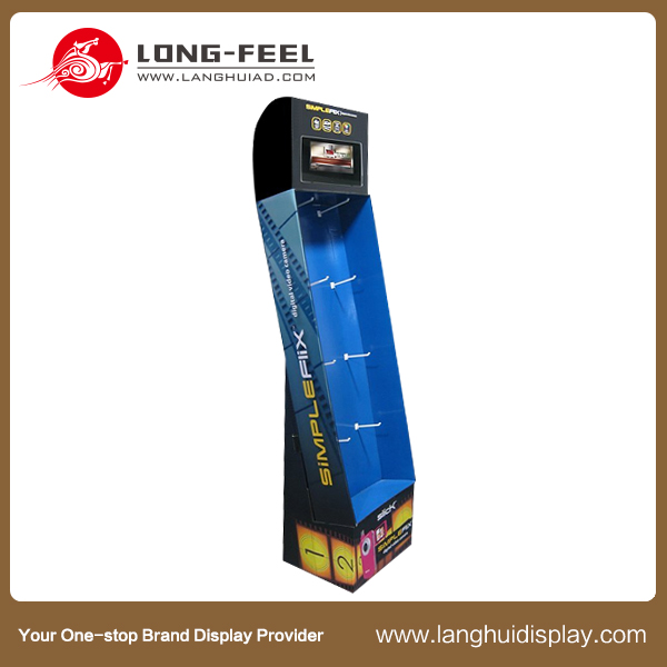 Electronic products supermarket advertising pop cardboard display suppliers