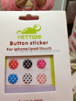 3D Clear and Round crystal sticker for iphone 4 home button
