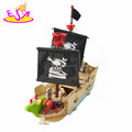 Most popular children pretend play toys wooden pirate play set for kids W03B062