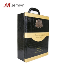 Wholesale Luxury Printing Logo High Gloss Leather Wine Box Gift Packaging
