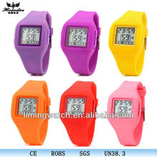 2014 newest fashion digital rubber silicone colors led watch