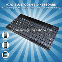 Li-Battery 80keys slim mini wireless Bluetooth 3.0 keyboard for Mini IPAD 4 smartphone andriod phone