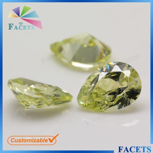 Facets Gems Manufacturing Artificial Pear Shape Diamond Congo